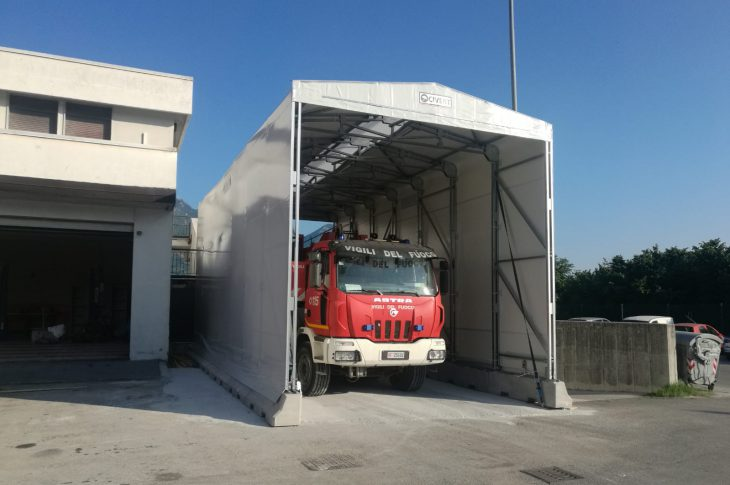 copertura mobile per vigili del fuoco