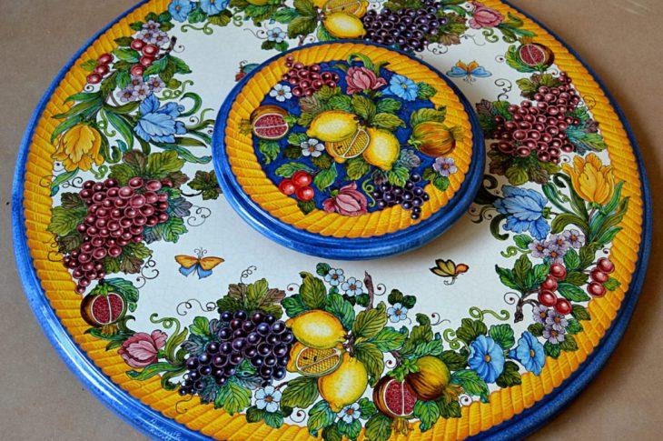 tavolo rotondo in ceramica
