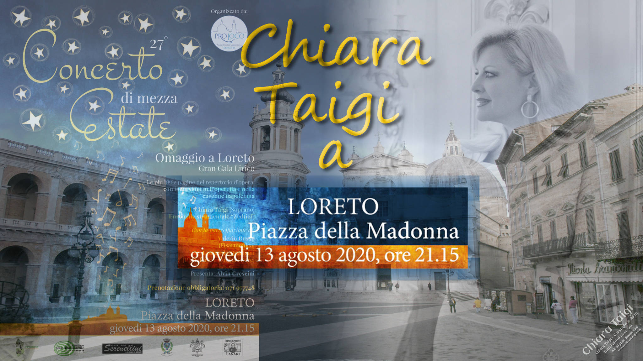 CHIARA TAIGI in Concerto Di Mezza Estate - 13 Agosto 2020 - Omaggio a Loreto